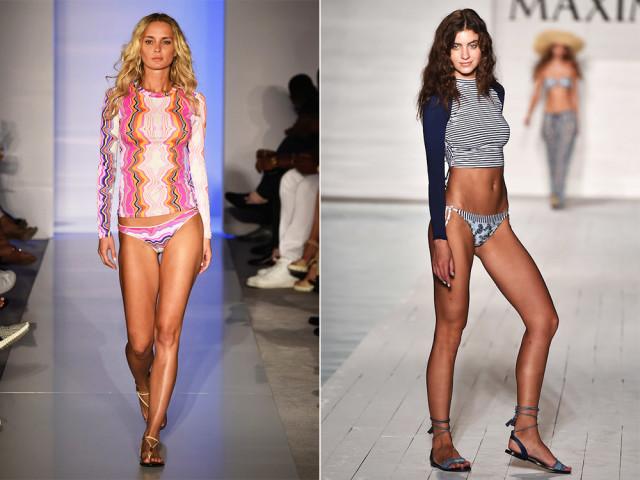Модные сплошные купальники, лето мода купальники