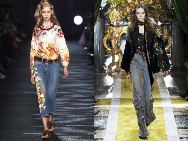 Самые модные джинсы  Модные джинсы осень, зима 2016, 2017