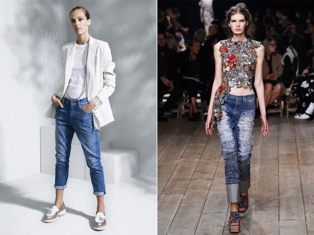 Женские джинсы 2017 года модные фото