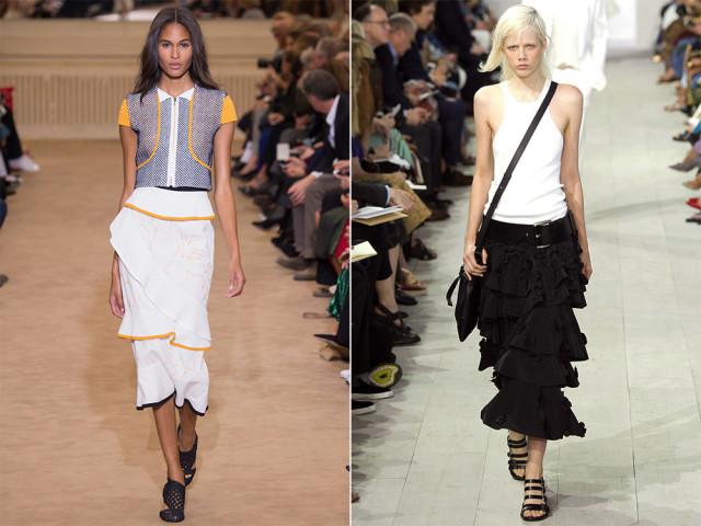 мода на длинные юбки в году