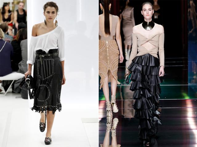 фото модных юбок годе