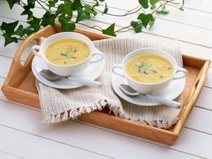 Молочный суп из тыквы