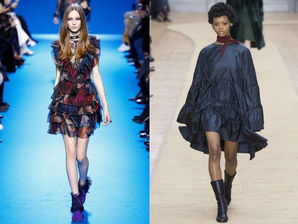 Платье с жабо модная тенденция 2017 фото