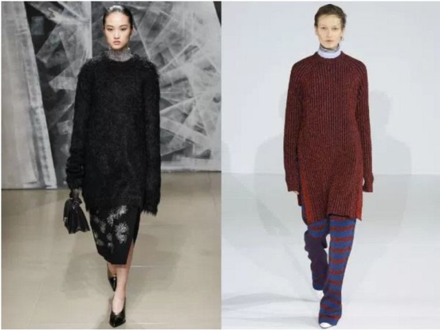 длинные свитера женские