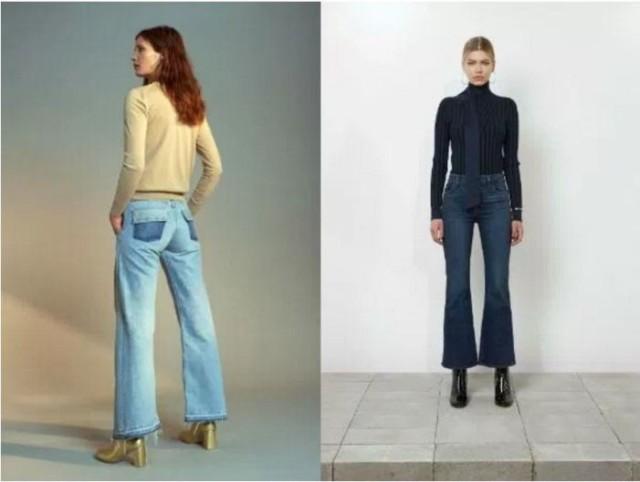 джинсы с манжетами