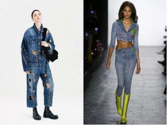 джинсовый костюм женский