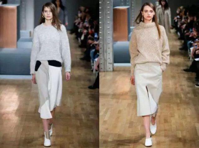 свитер женский модный вязанный зима