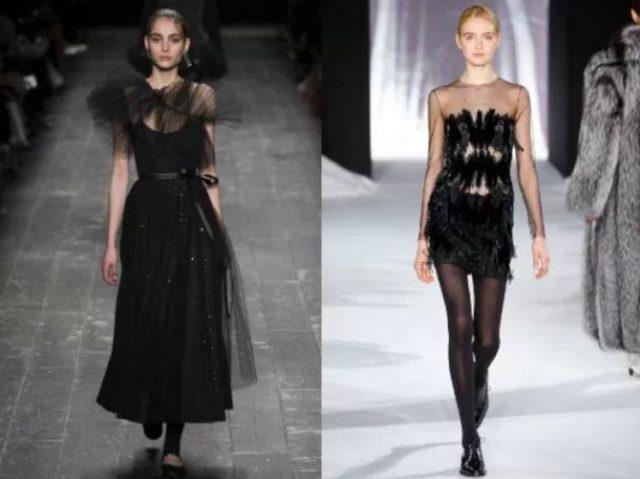 какие фасоны платьев модны
