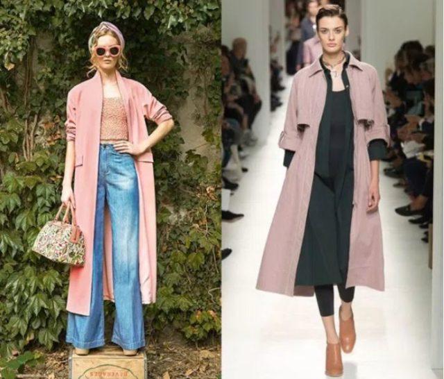 пальто мода 2018