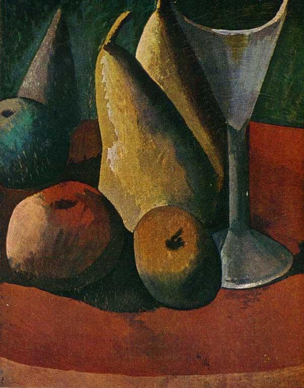 Бокал и фрукты. 1908