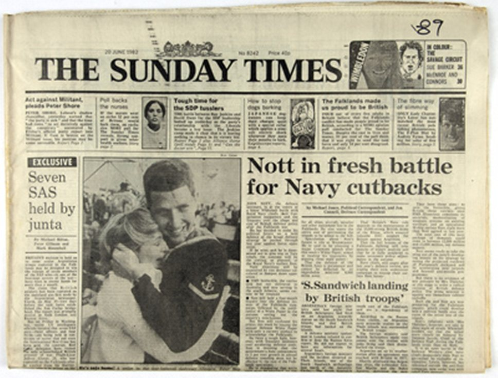 1822 года 20 октября вышел первый номер газеты The Sunday Times.