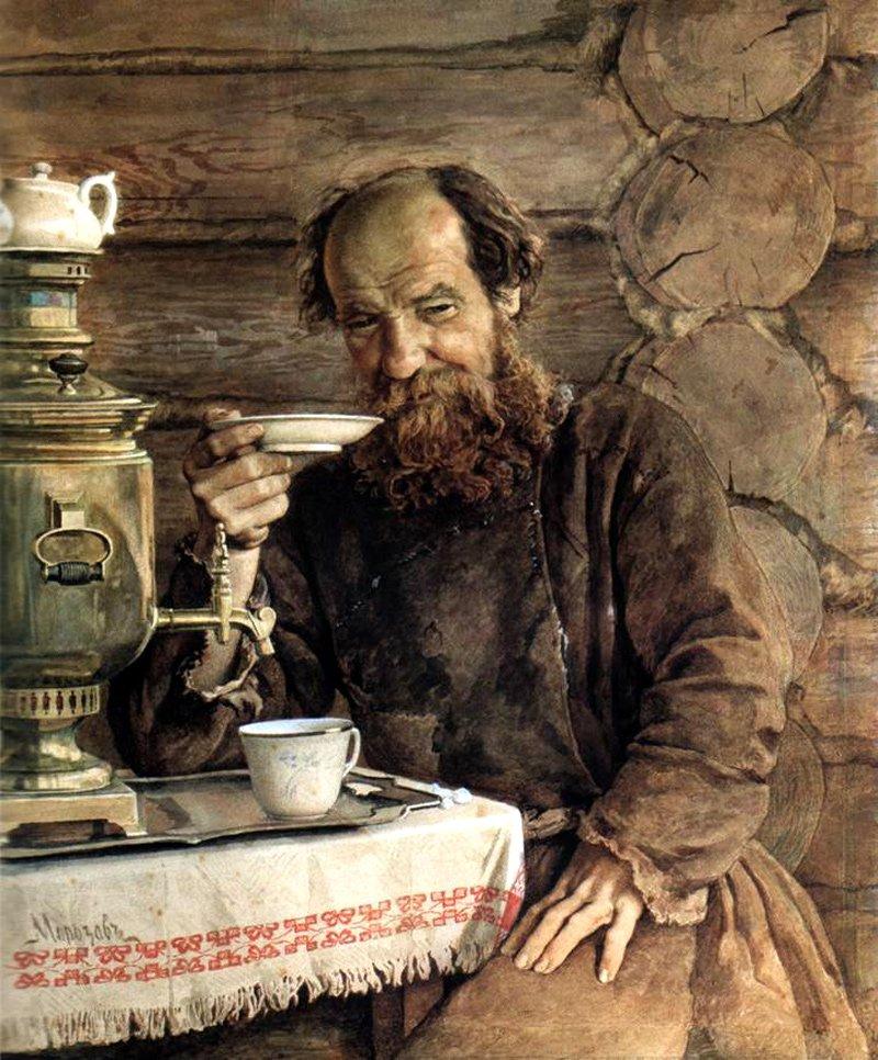 Морозов А.И. За чаепитием