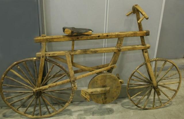 первые деревянные велосипеды