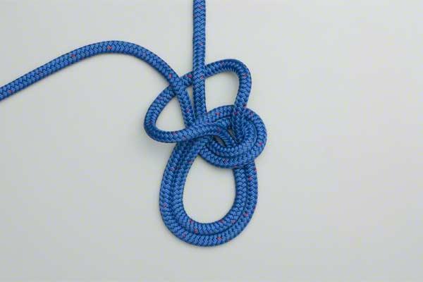 как вязать двойной узел