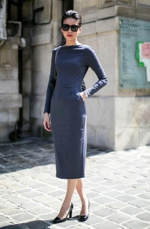 облегающее платье как носить
