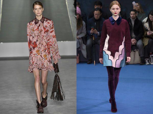 Платья с воротником платье и манжетами, модные тенденции фото 2016 2017