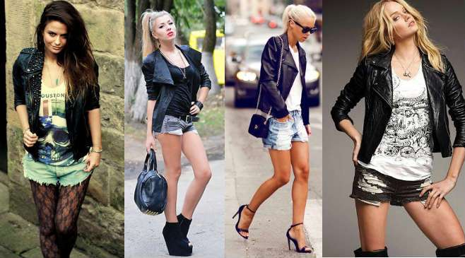 модные кожаные женские куртки фото