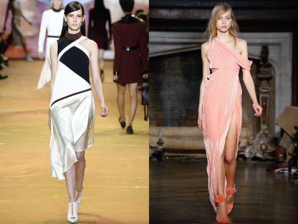 Асимметричное платье модные фасоны 2017