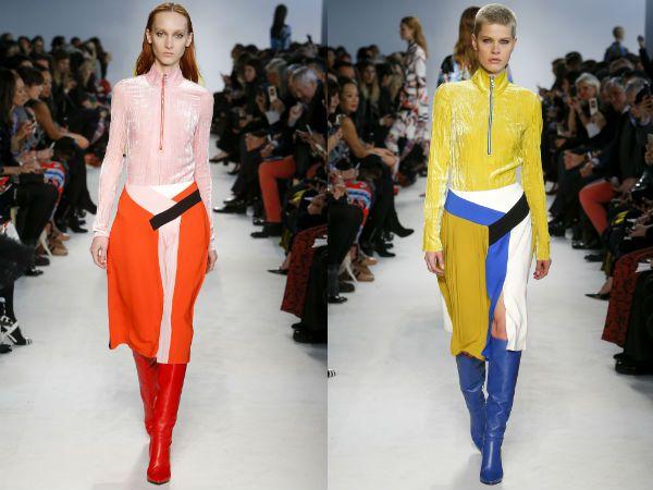 модными считаются цвета юбок