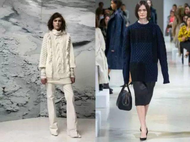 модели модных свитеров