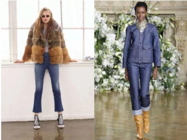 модные джинсы зима 2017 фото