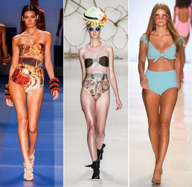 Купальники 2018 года модные тенденции фото цвета