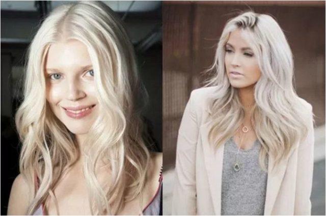 модные светлые оттенки волос