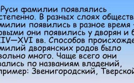 Происхождение фамилии Анисимов.