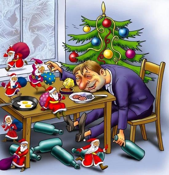 Новый год картинки веселые, про мужа приколом