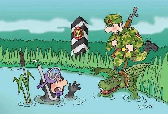 анекдоты про границу и пограничников
