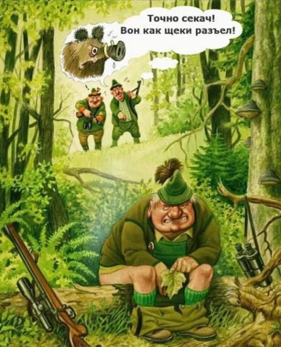 Анекдоты про охотников