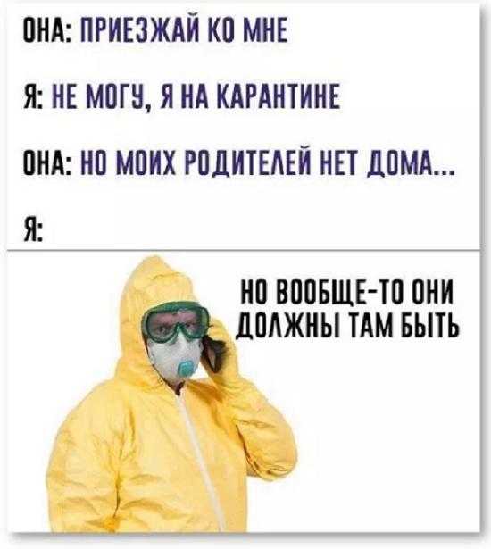 веселый анекдот про карантин РФ